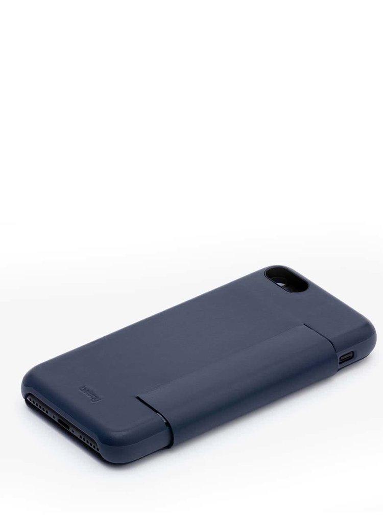 Tmavě modrý kožený kryt pro iPhone 7 s přihrádkou na platební karty Bellroy