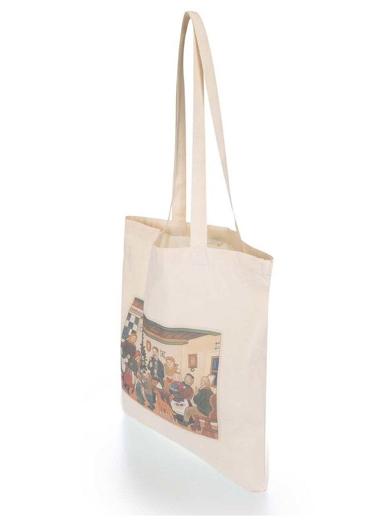Tělová dámská plátěná taška ZOOT Originál Jos. Lada Vánoce