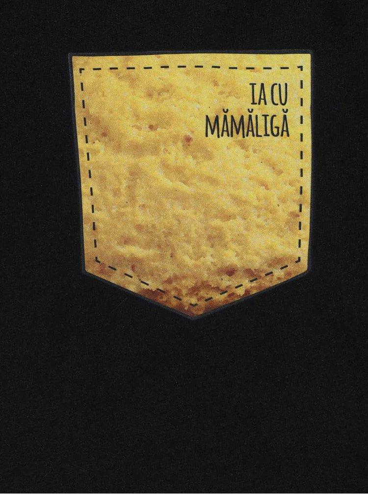 Tricou negru de barbati ZOOT Original Ia cu Mamaliga
