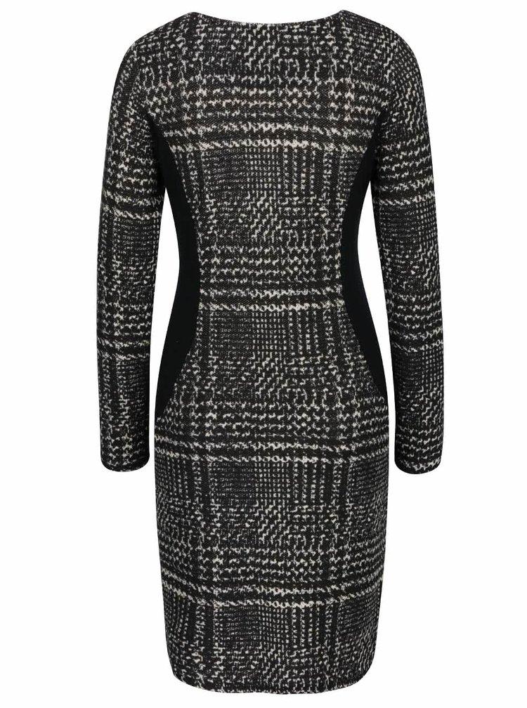 Čierne vzorované šaty Smashed Lemon