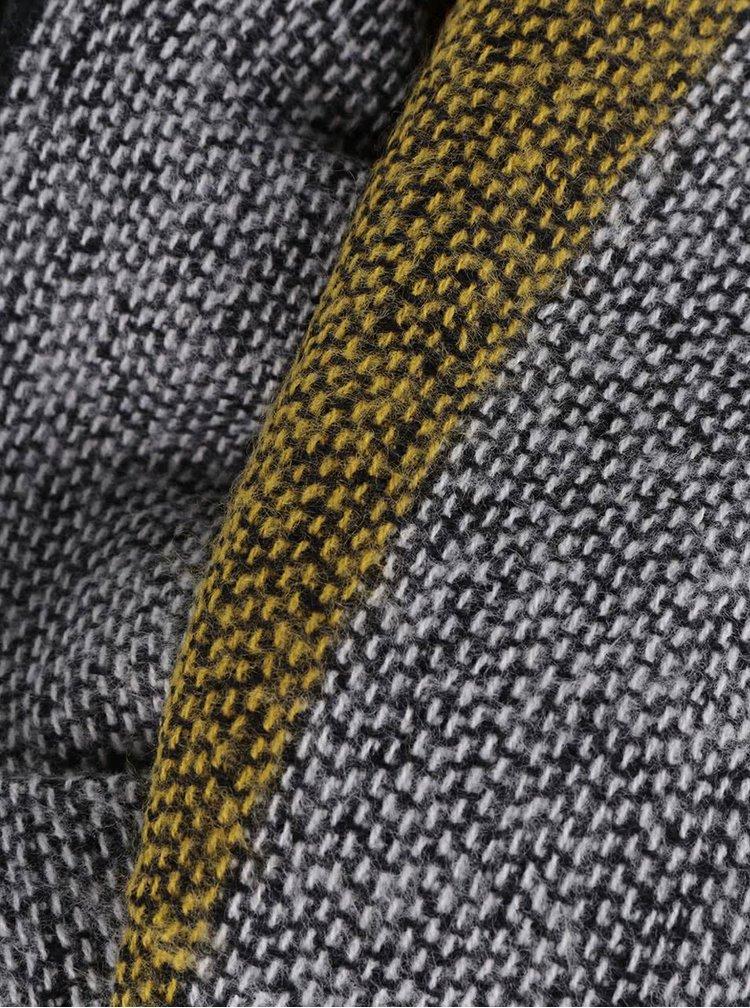 Žluto-černá kostkovaná šála ONLY Oniella