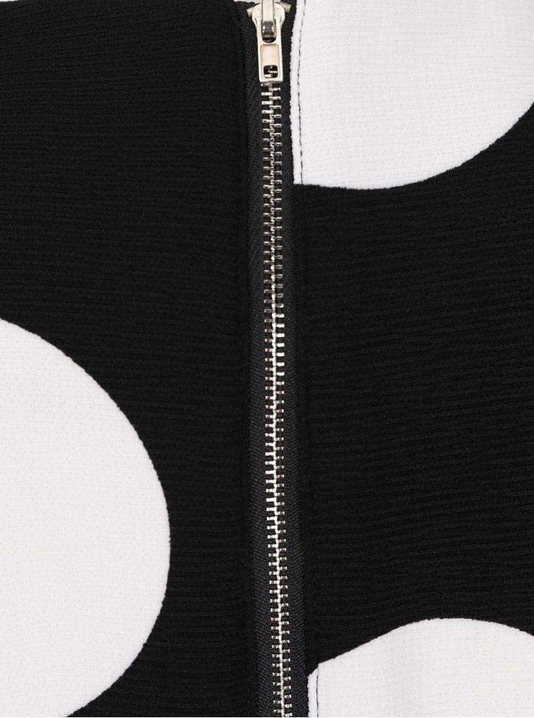 Černé šaty s krémovými puntíky Smashed Lemon