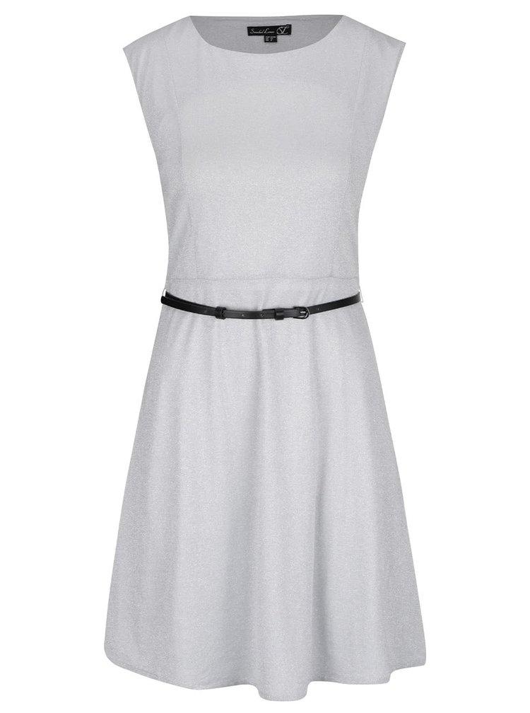 Světle šedé šaty s páskem Smashed Lemon
