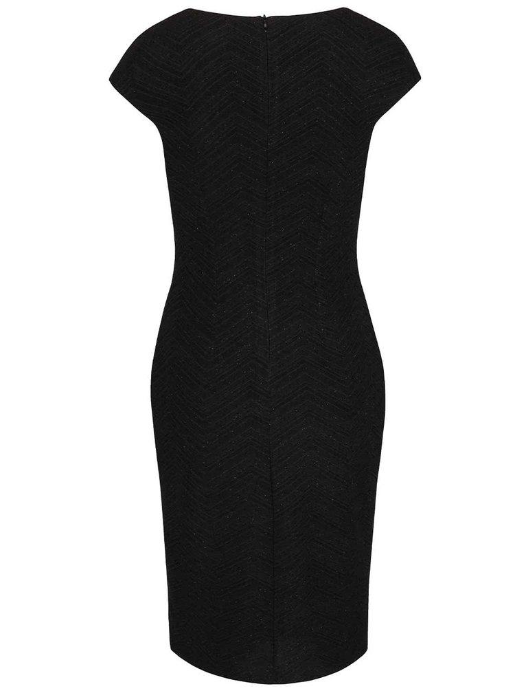 Černé třpytivé šaty Smashed Lemon