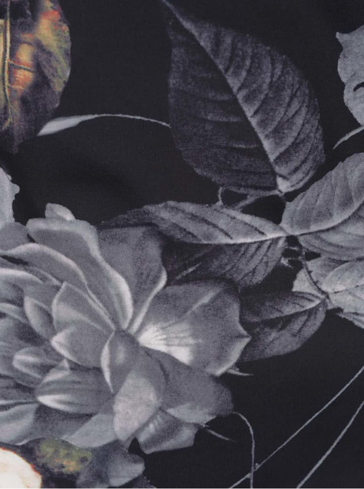 Rochie neagra Smashed Lemon cu model floral