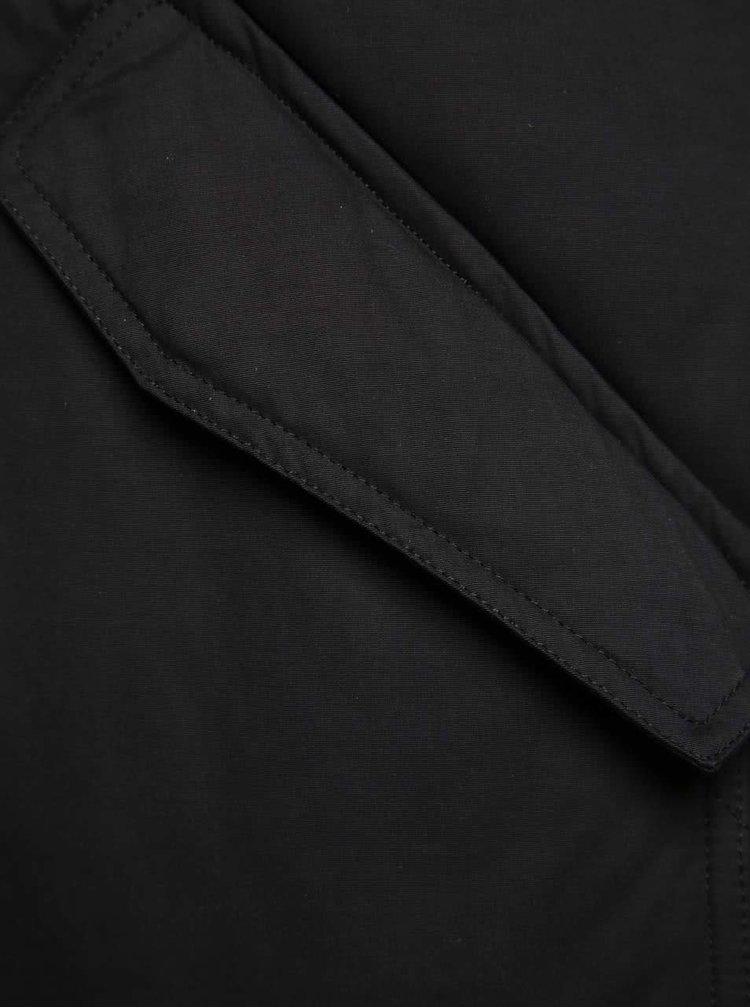 Černá dámská prošívaná zimní parka Ragwear Flash Long