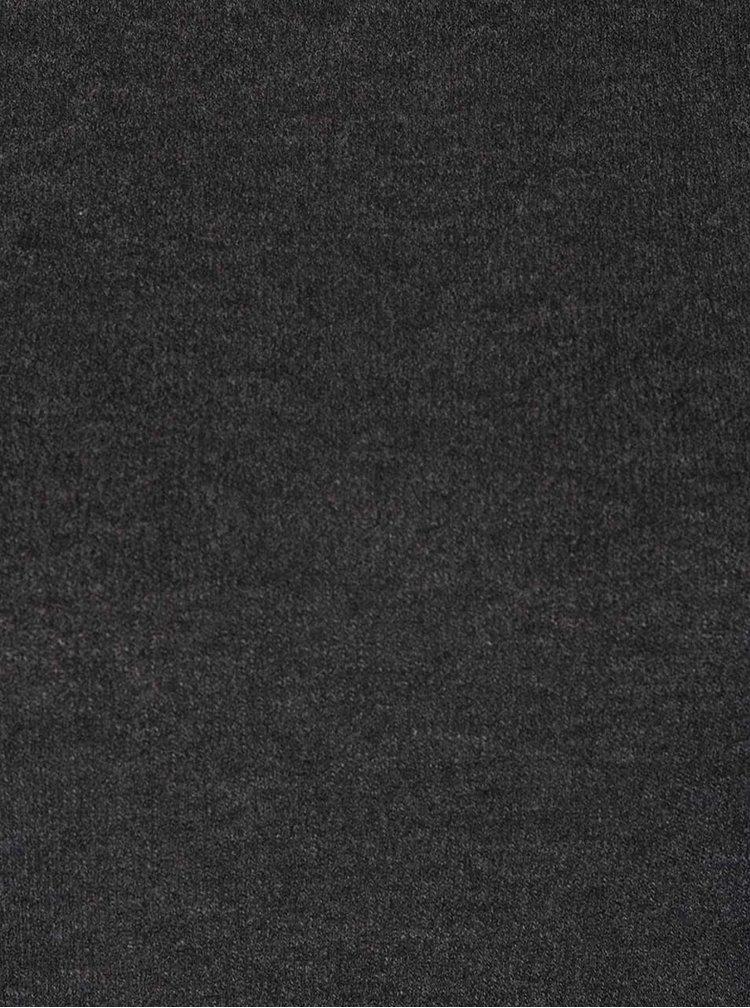 Tmavě šedý top s dlouhým rukávem ONLY Estelle