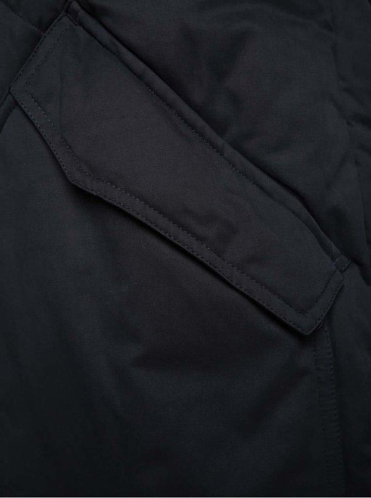 Tmavě modrá dámská prošívaná zimní parka Ragwear Flash Long