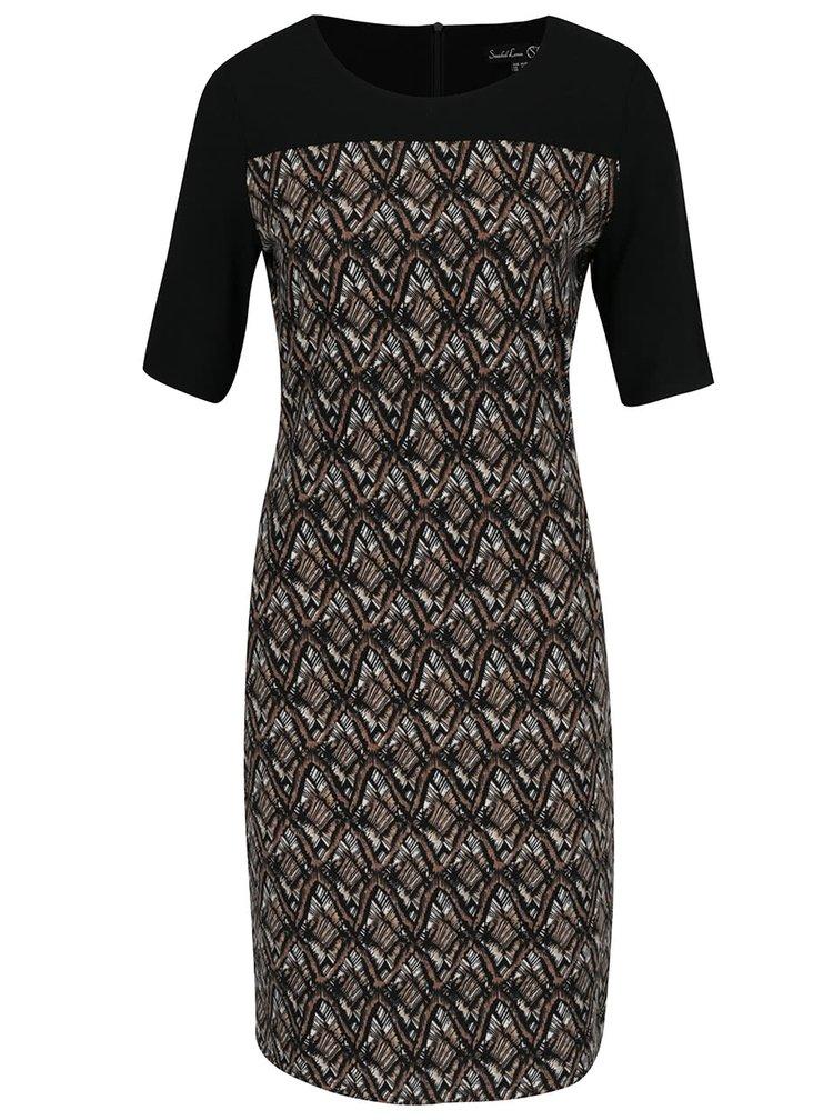 Černo-hnědé vzorované šaty Smashed Lemon