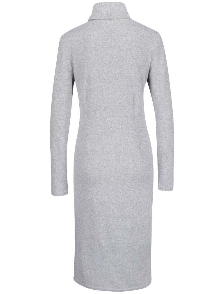 Světle šedé svetrové šaty ONLY Eli