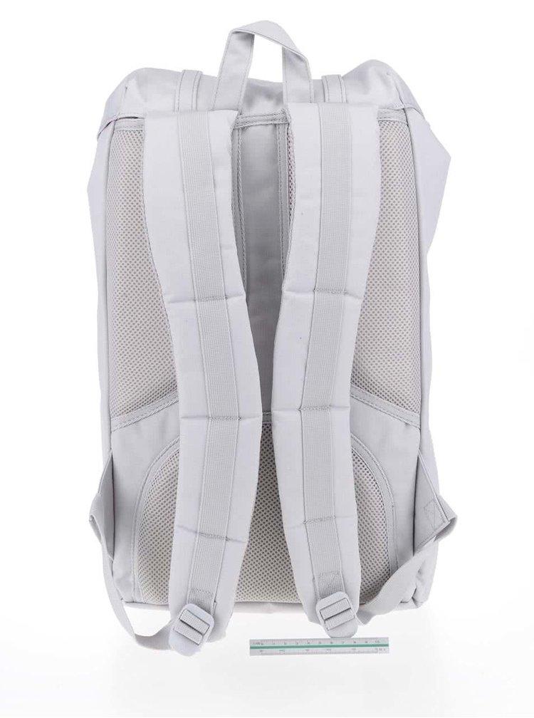 Světle šedý unisex batoh s šedými popruhy Herschel Little America 25 l