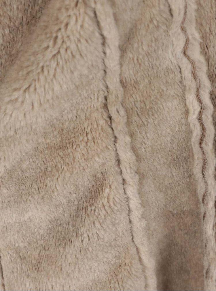 Světle hnědá vesta z umělé kožešiny na zip ZOOT