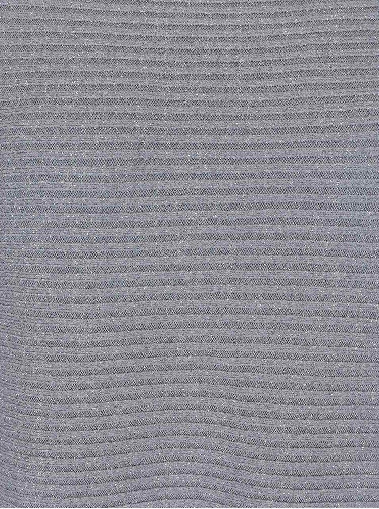 Šedý volný svetr se třpytkami ZOOT