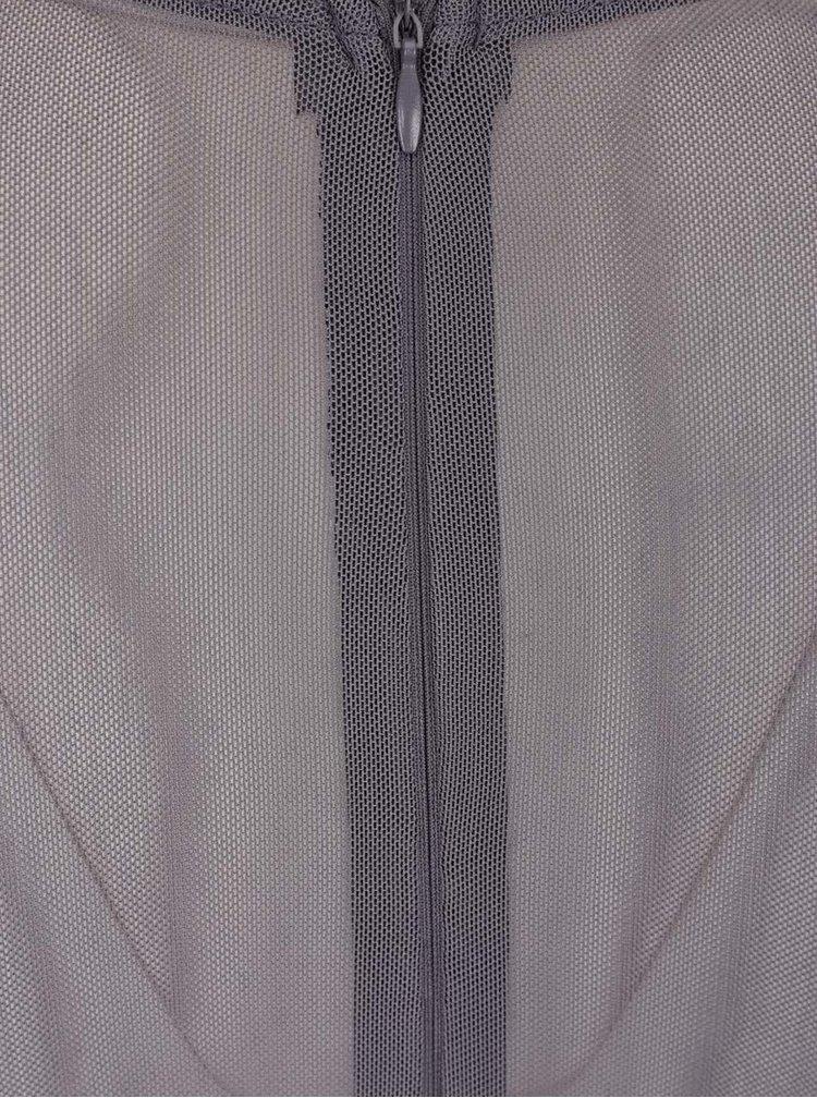 Šedé maxišaty s krajkovým topem AX Paris