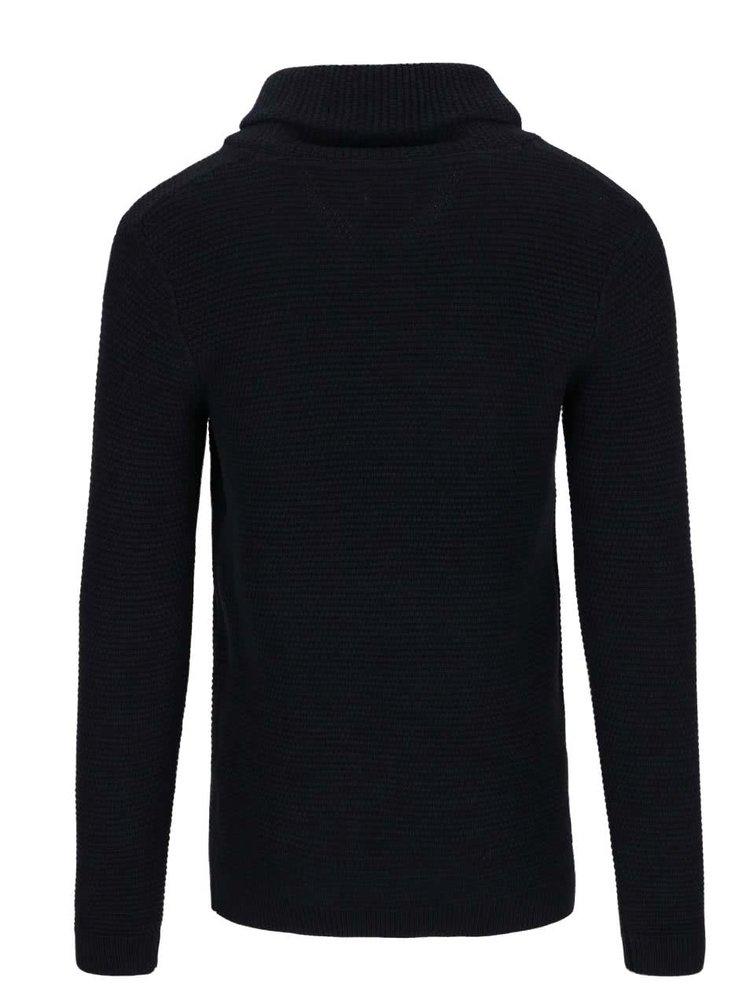 Tmavomodrý sveter s vysokým golierom Selected Homme New Win Cebubble