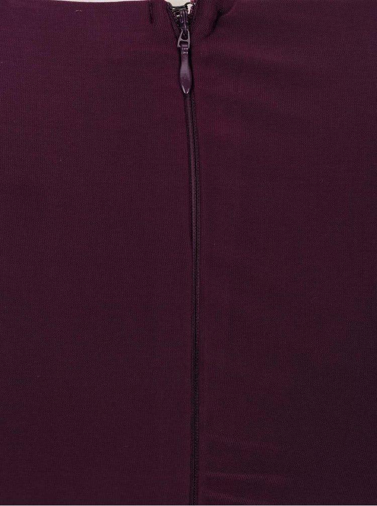 Rochie violet maxi AX Paris cu detaliu din dantelă