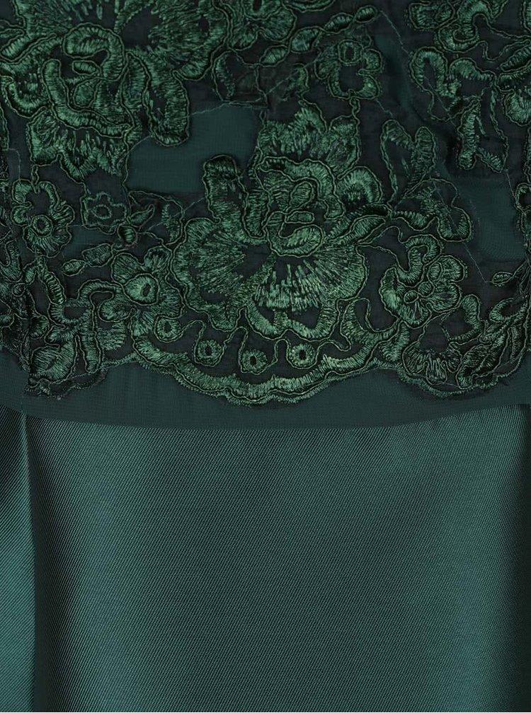 Rochie verde inchis AX Paris cu detaliu din dantela