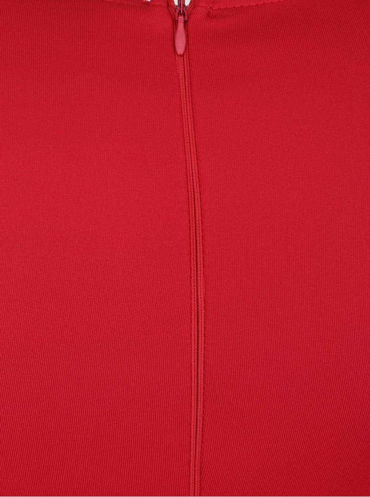 Červené perforované midišaty AX Paris