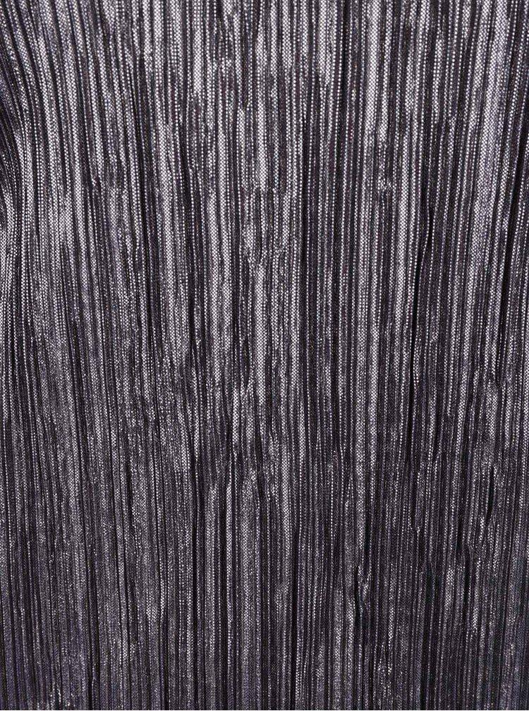 Šedý metalický plisovaný top Dorothy Perkins