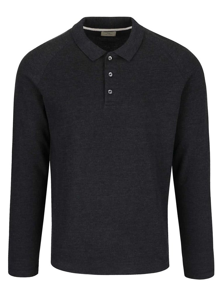 Bluza polo gri inchis Selected Homme Casual