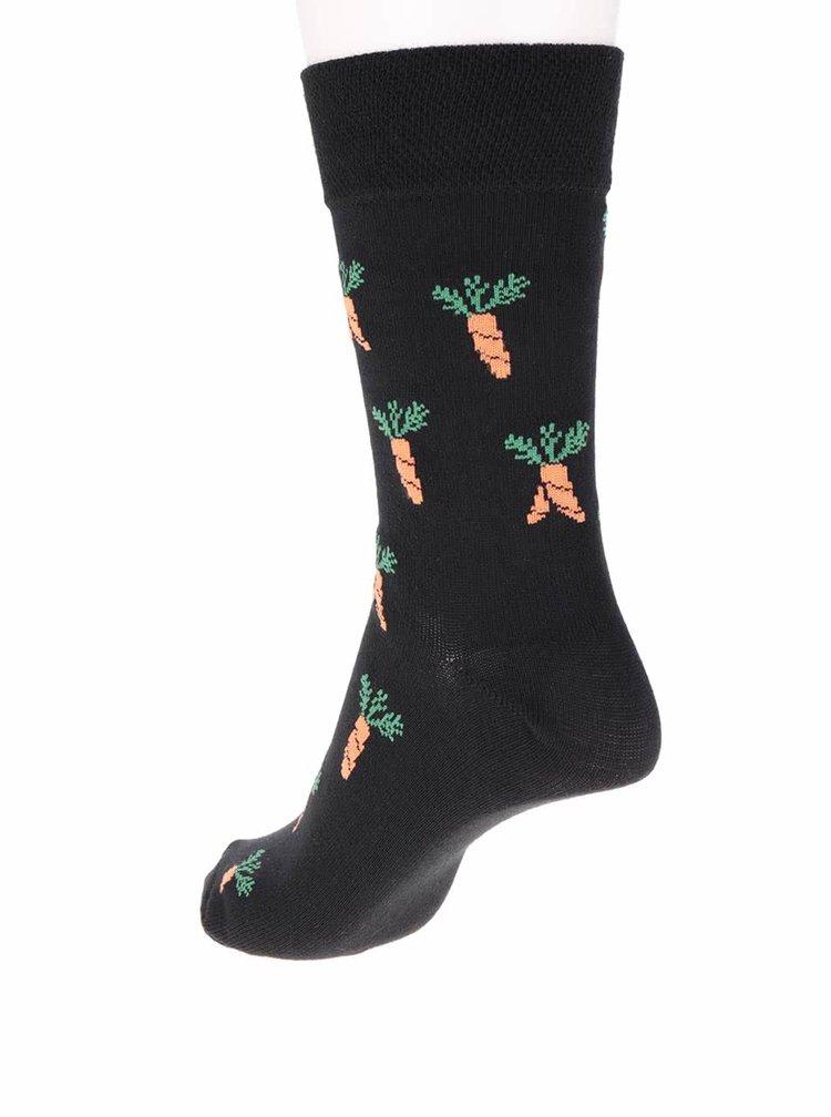 """""""Dobré"""" černé unisex ponožky pro Zachraň jídlo"""