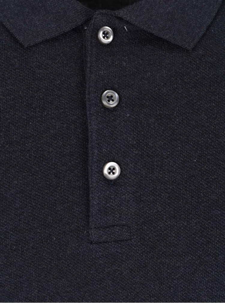 Bluza polo albastru inchis Selected Homme Casual din bumbac