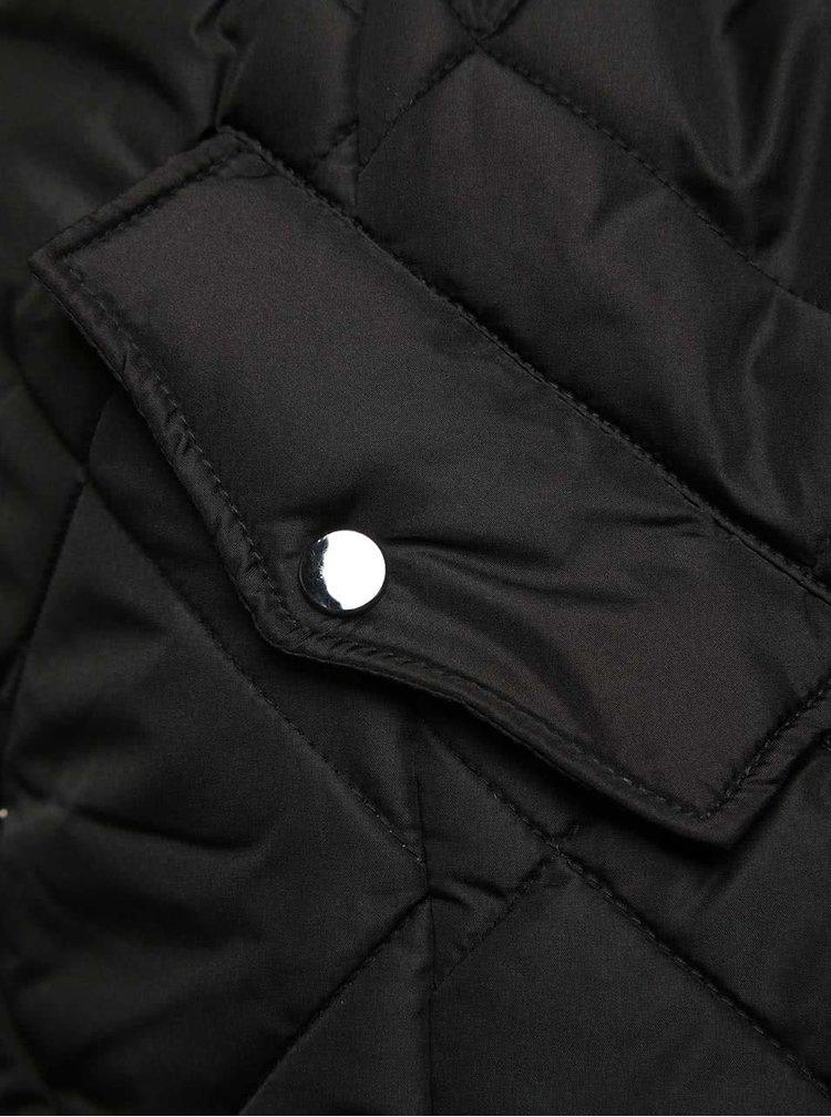 Černý prošívaný kabát PEP Skala