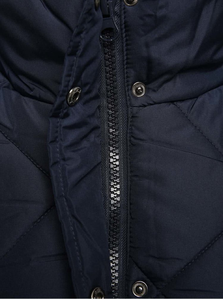Modrý prošívaný kabát PEP Skala