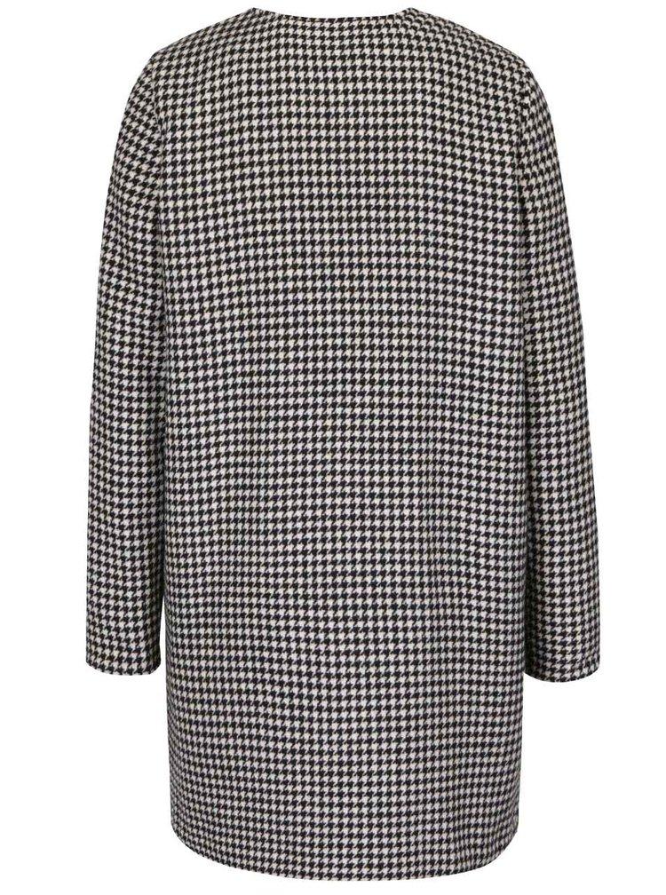 Černo-bílý kabát se vzorem kohoutí stopy Dorothy Perkins