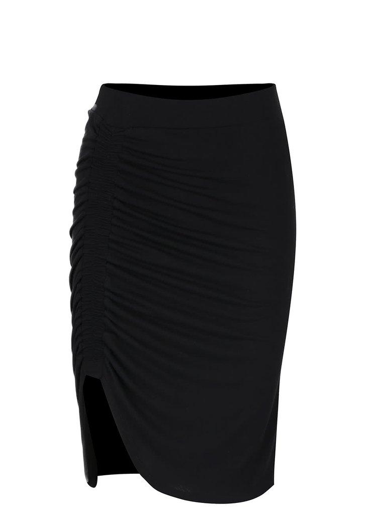 Černá nařasená sukně VERO MODA Alsa