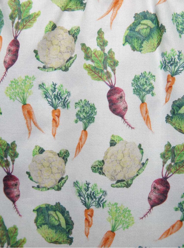 """""""Dobré"""" biele trenírky s potlačou zeleniny pre Zachraň jídlo"""