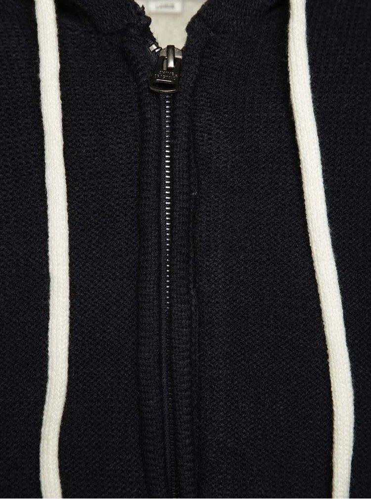 Tmavě modrá mikina na zip Shine Original