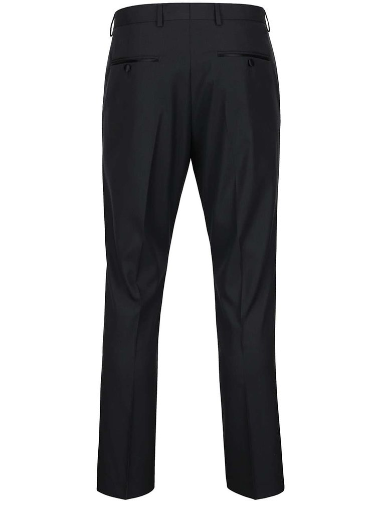Pantaloni gri inchis Selected Homme Done Tuxleon cu model discret