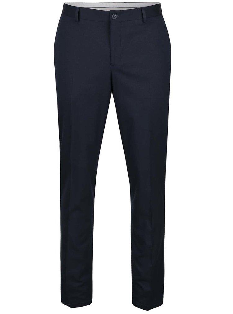 Pantaloni bleumarin Selected Homme Skinny Mathsaul cu model discret