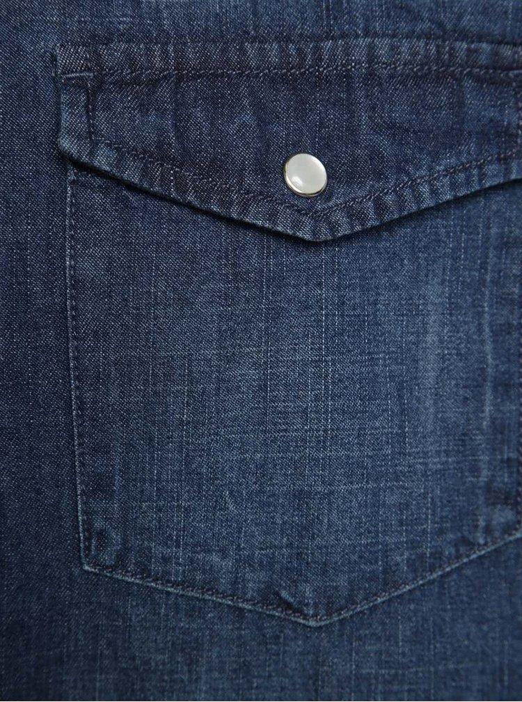 Cămașă albastră Shine Original din denim