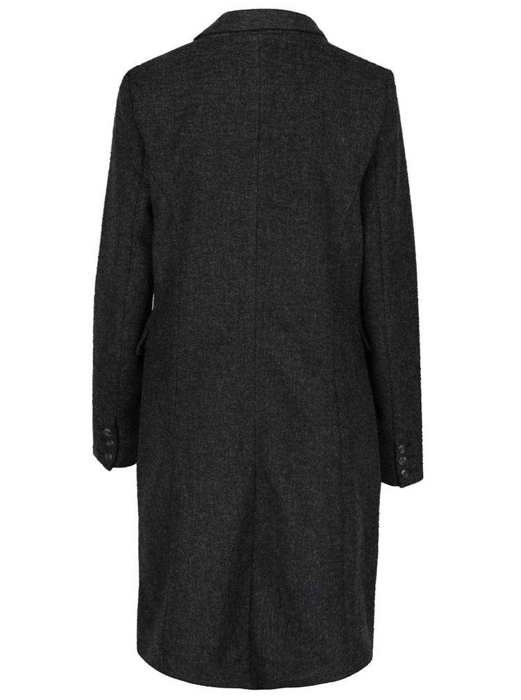 Tmavě šedý dámský dvouřadý kabát Broadway Reeve