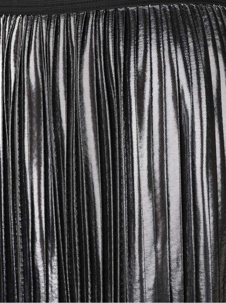 Fustă plisată ONLY Lucile argintiu metalic