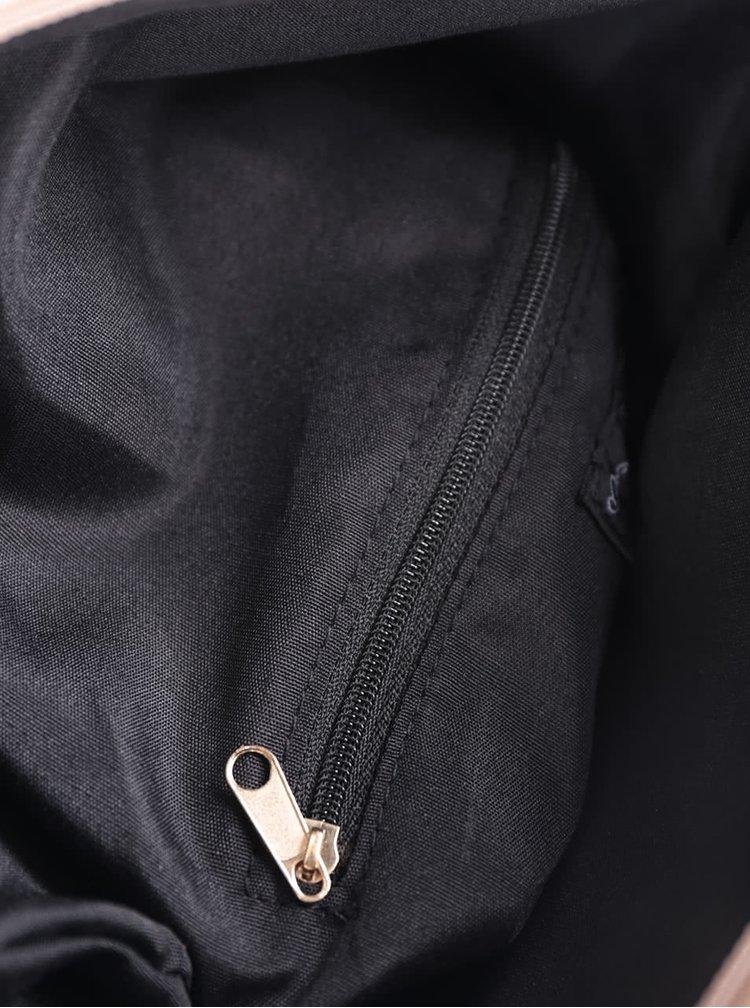 Pudrově růžová koženková kabelka Miss Selfridge