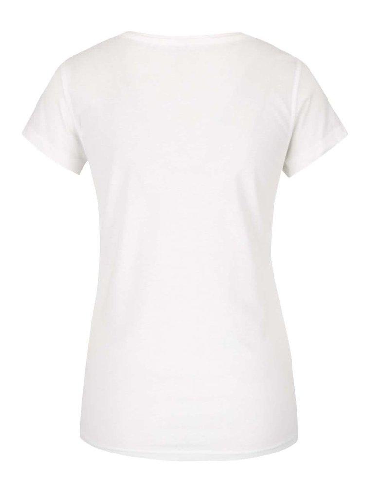 Krémové tričko s nášivkami ONLY Tessa