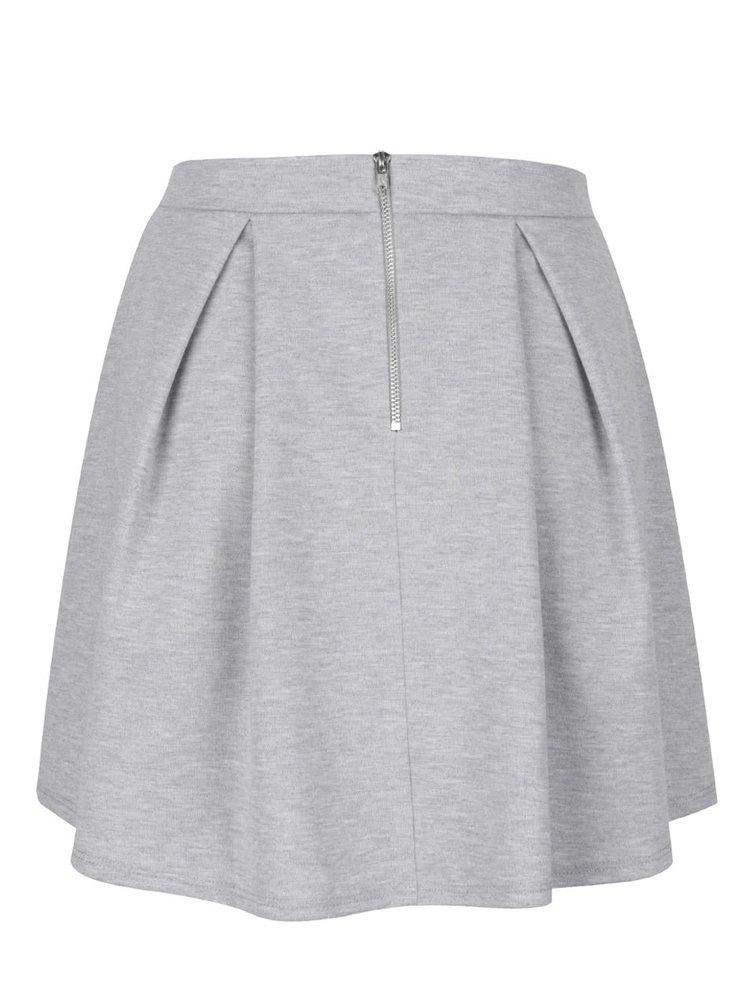 Světle šedá žíhaná sukně Miss Selfridge