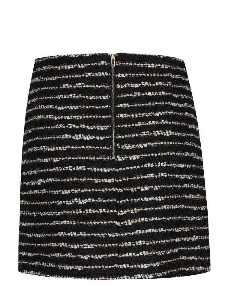 Černá pruhovaná minisukně s kapsami Darling Shinead