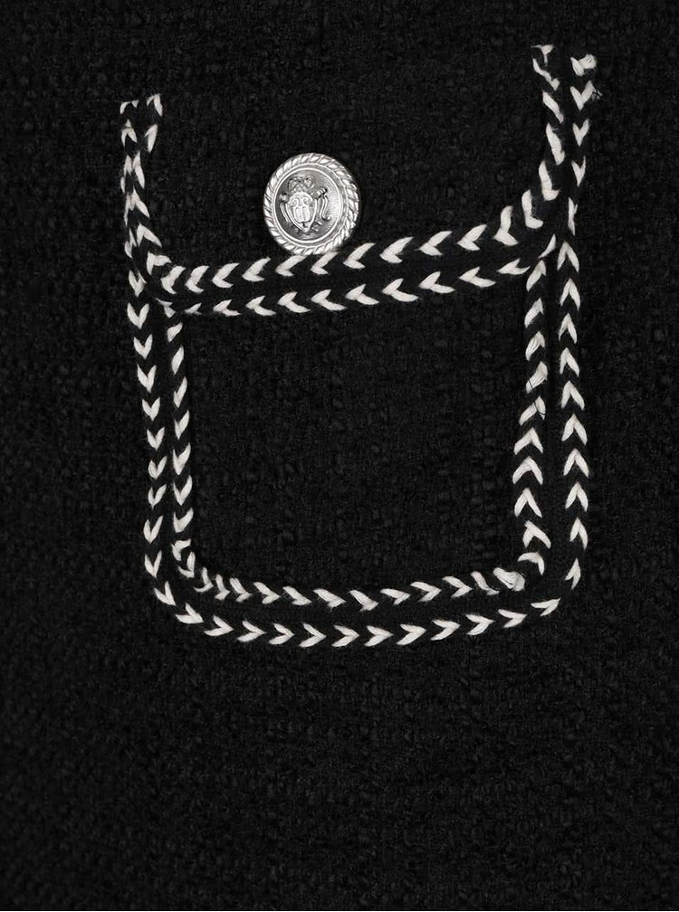 Černá minisukně s kapsami s ozdobnými knoflíky Darling Cece