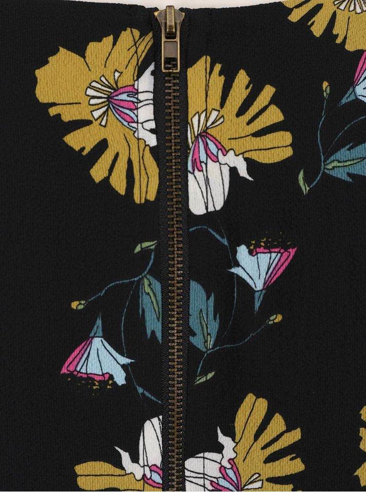 Černá tunika s motivem vlčích máků Darling Cerys