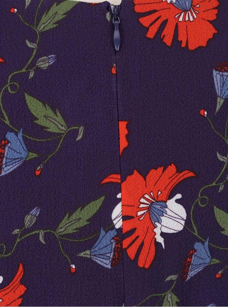 Modré šaty s motivem vlčích máků a s vázankou Darling Cerys