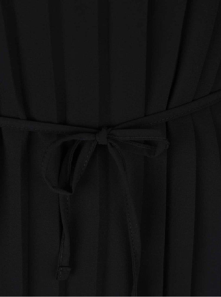 Černý plisovaný top Alchymi Jilin