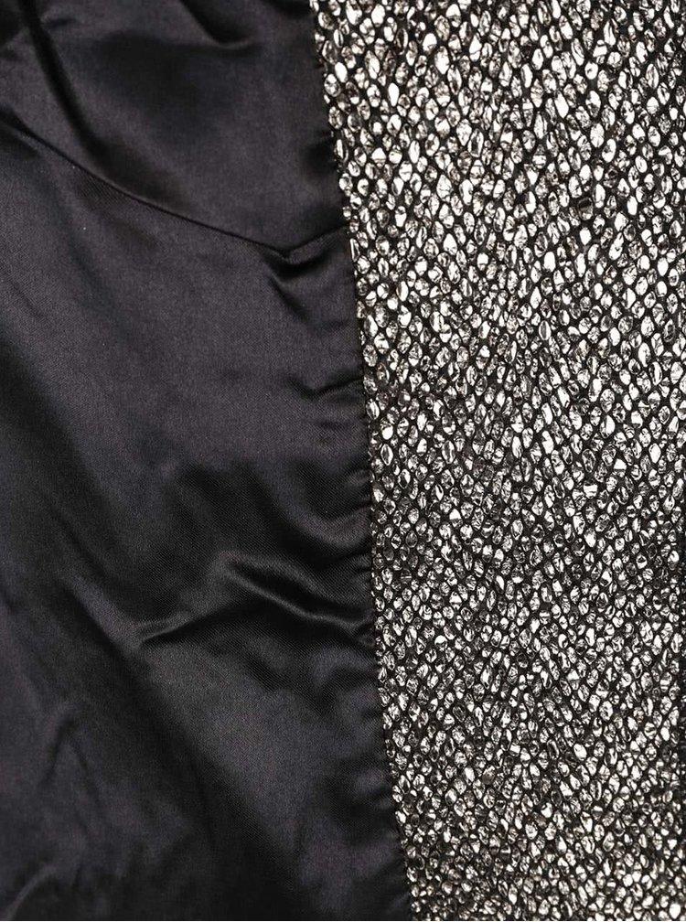 Metalický blejzer v striebornej farbe s vreckami Darling Dulcie