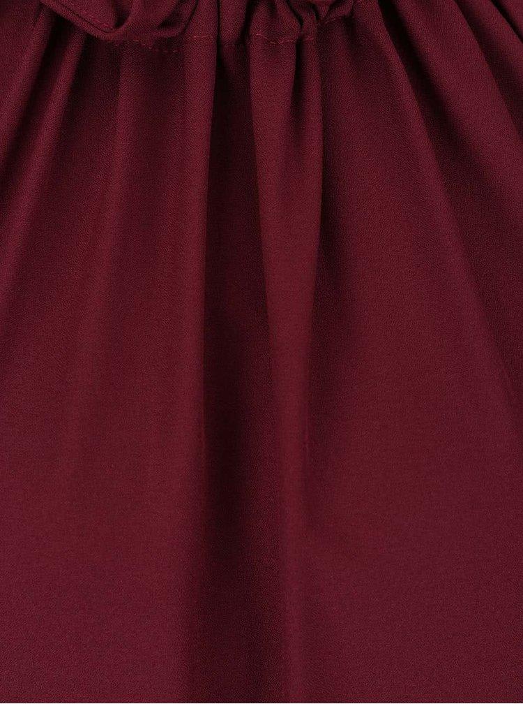 Vínové šaty s 3/4 rukávy Alchymi Lorre