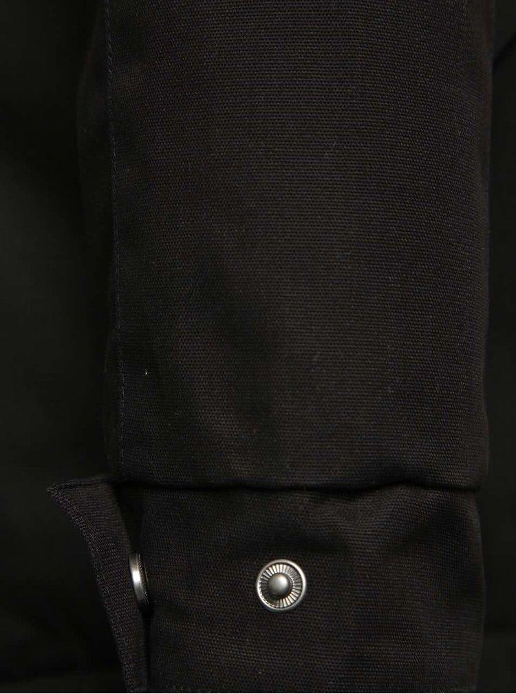 Černá pánská parka s kapucí Ragwear Sam
