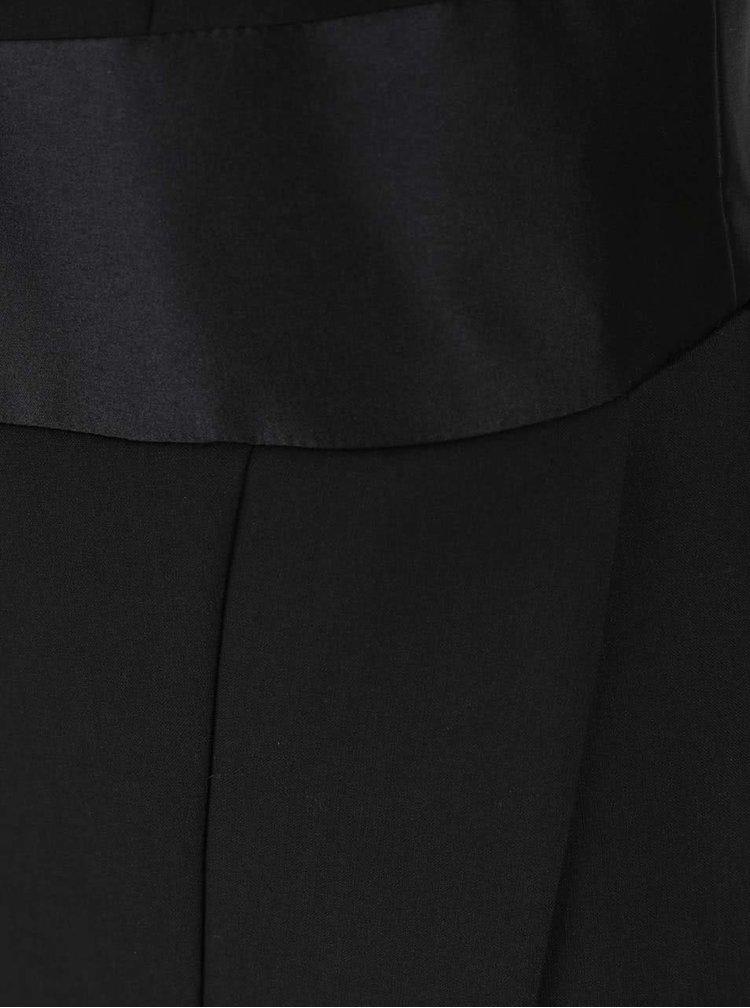 Černé šaty s odhalenými zády a mašlí Closet