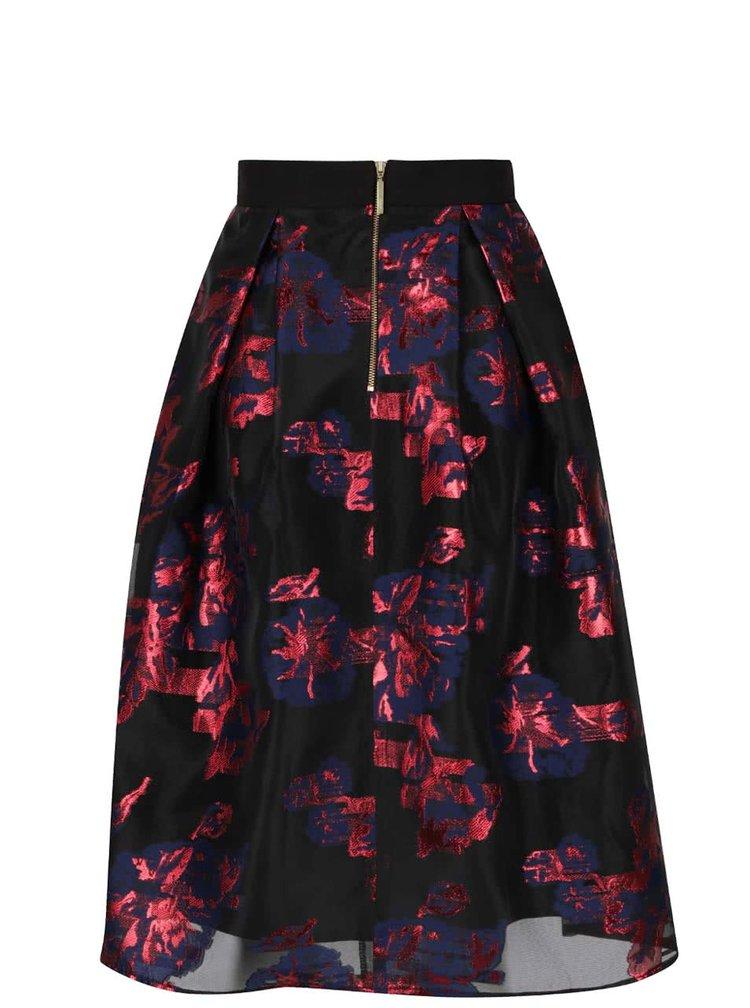 Černá sukně s květovaným vzorem Closet
